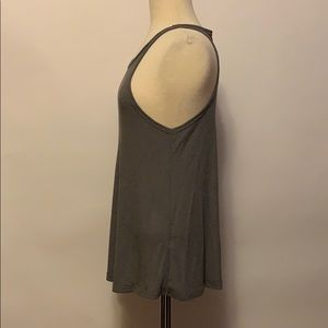 Free People Tops - Free People Gray Ribbed Tank Sz M